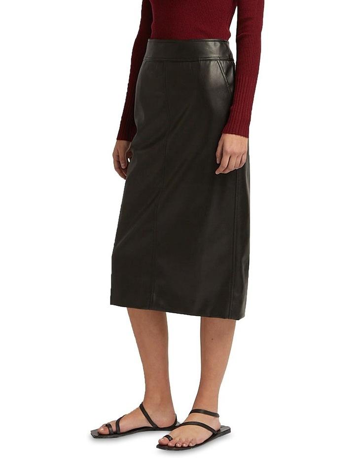 Aaia Vegan Leather Black Midi Skirt image 3