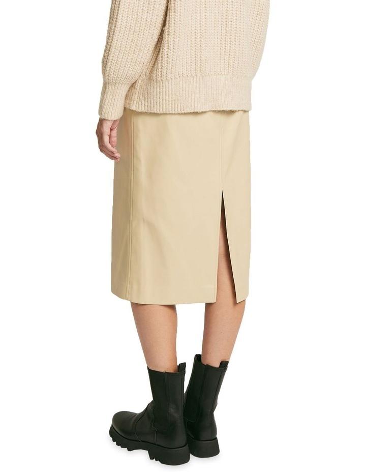 Aaia Vegan Leather Ecru Midi Skirt image 3