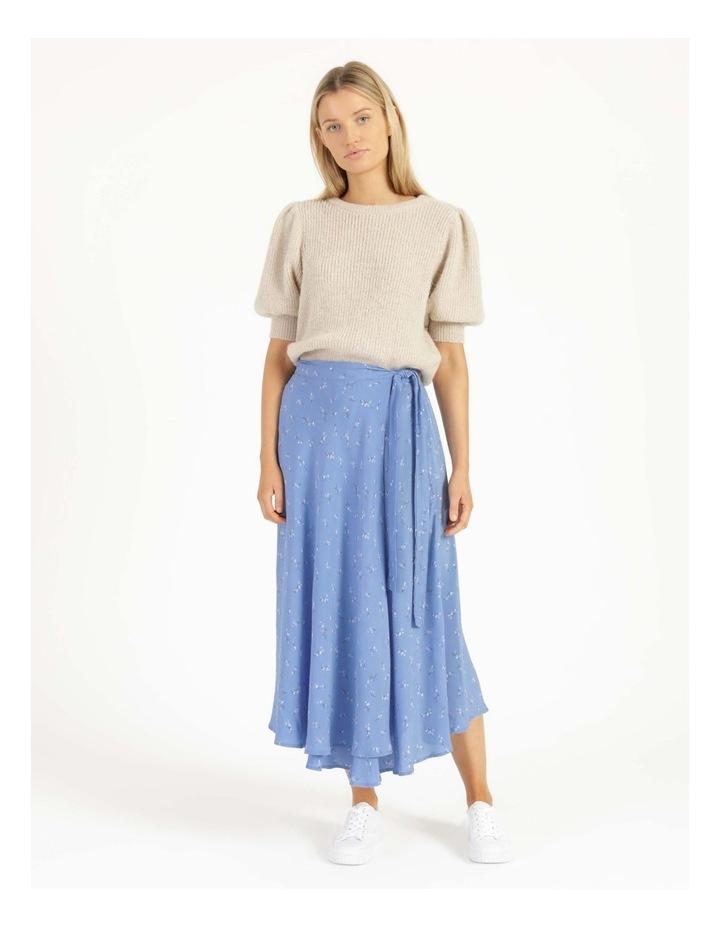 Esla High Waisted Midi Wrap Skirt image 1