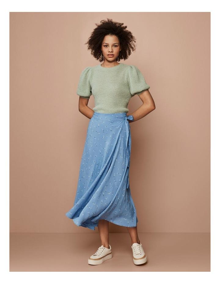 Esla High Waisted Midi Wrap Skirt image 2