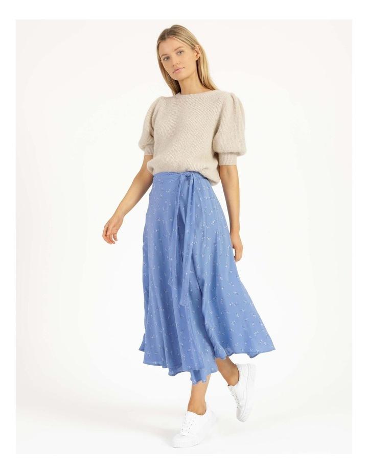 Esla High Waisted Midi Wrap Skirt image 3