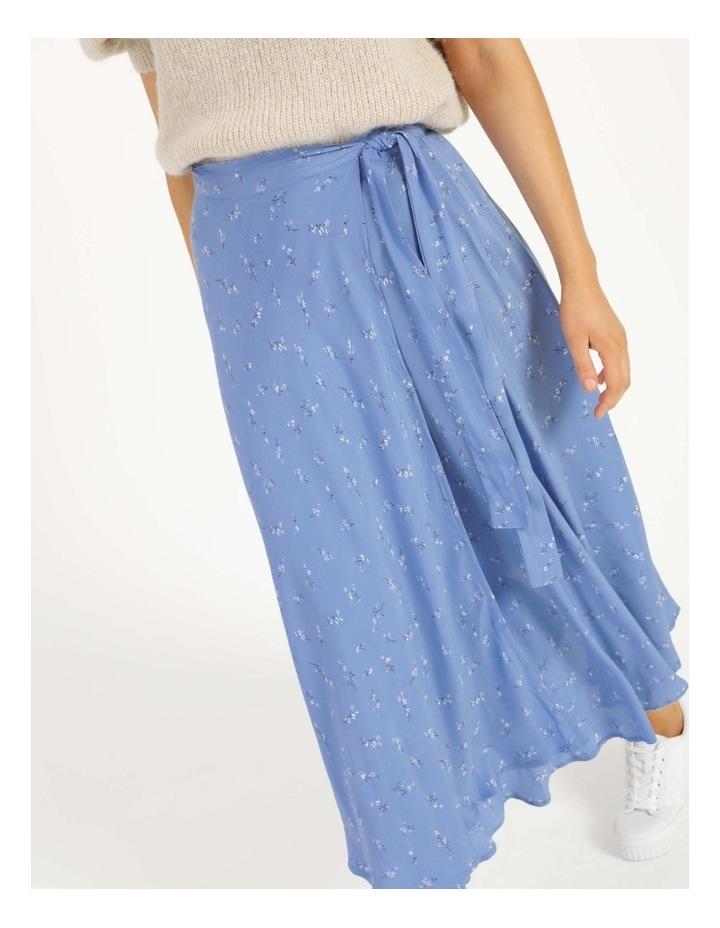 Esla High Waisted Midi Wrap Skirt image 4