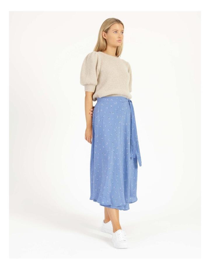 Esla High Waisted Midi Wrap Skirt image 5
