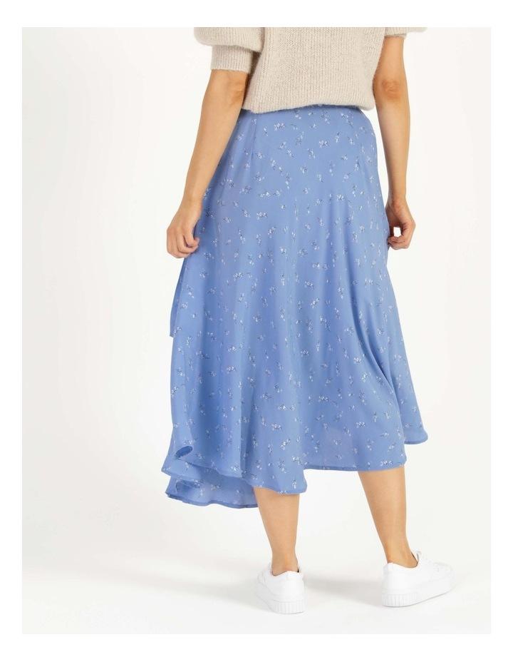 Esla High Waisted Midi Wrap Skirt image 6