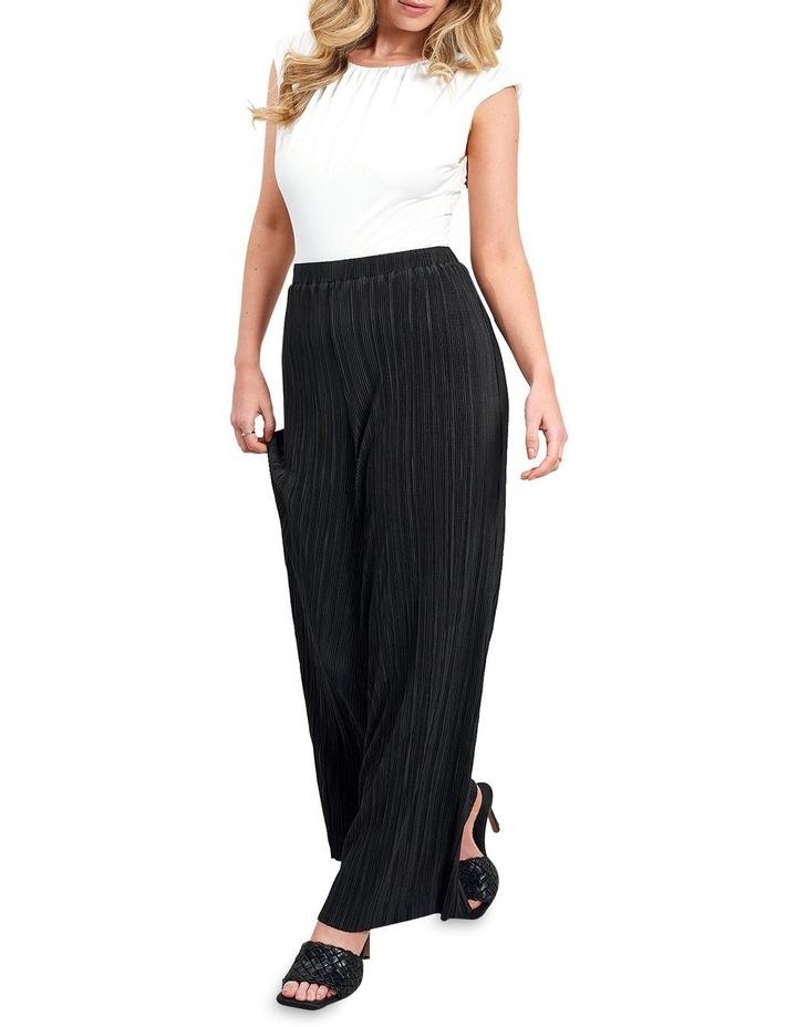 Plisse Trouser Black image 1