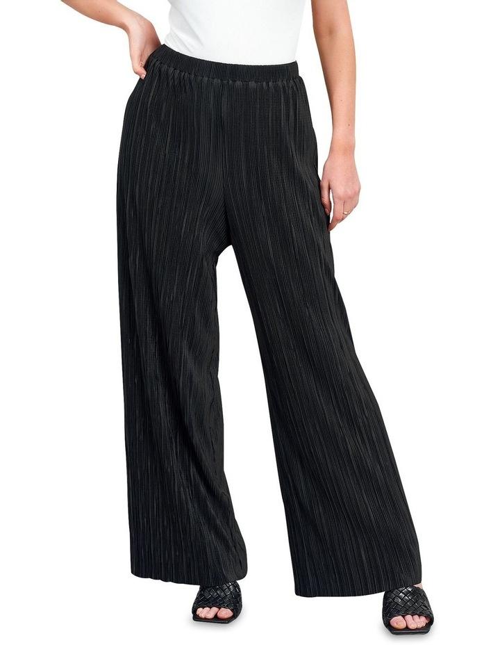 Plisse Trouser Black image 4