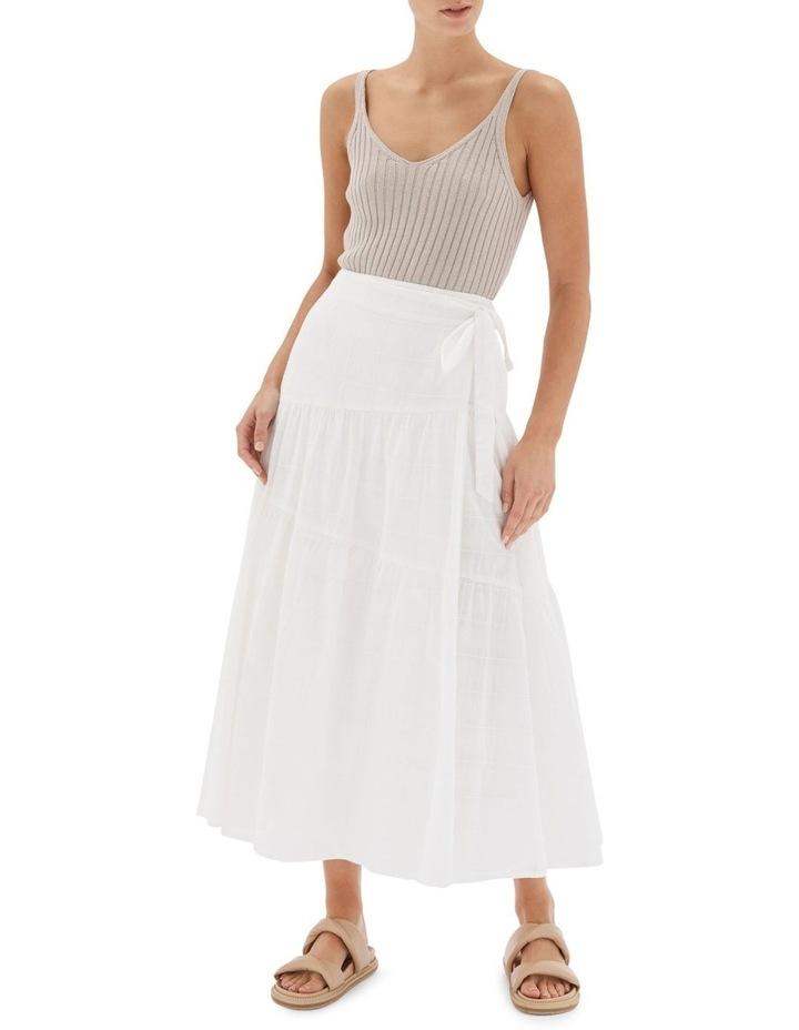 Arabella Wrap Midi Skirt White image 1