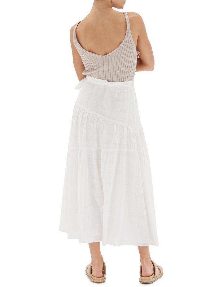 Arabella Wrap Midi Skirt White image 2