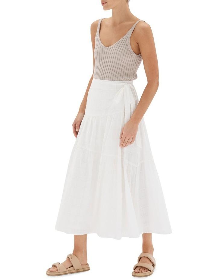 Arabella Wrap Midi Skirt White image 3