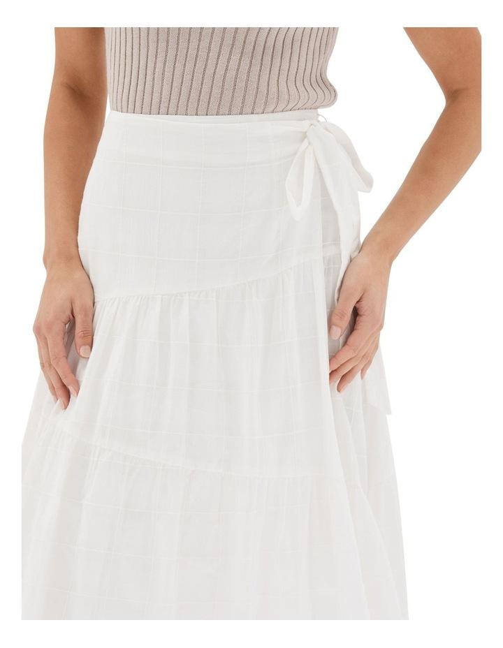 Arabella Wrap Midi Skirt White image 4