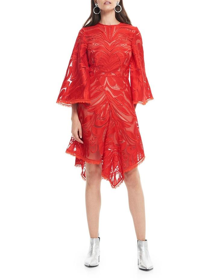 Carnation Flared Sleeve Mini Dress image 1