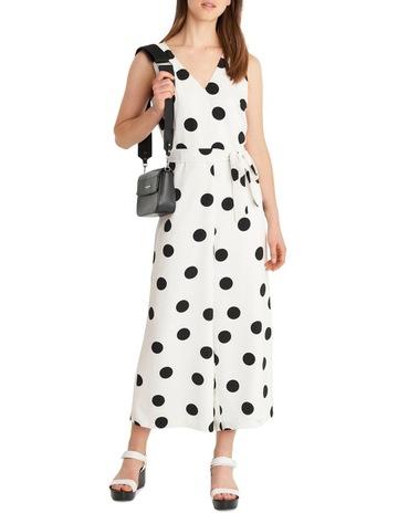 fb5a166c885 Karl Lagerfeld ParisSleeveless Polka Dot Jumpsuit. Karl Lagerfeld Paris  Sleeveless Polka Dot Jumpsuit