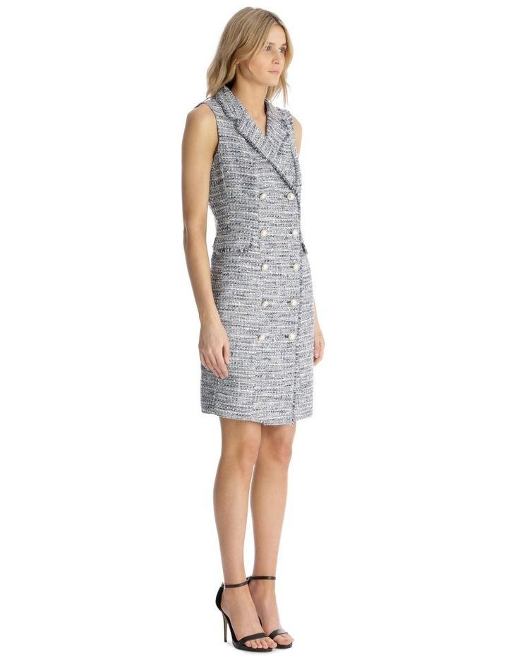 Sleeveless Tweed Blazer Dress with Front Pocket image 2