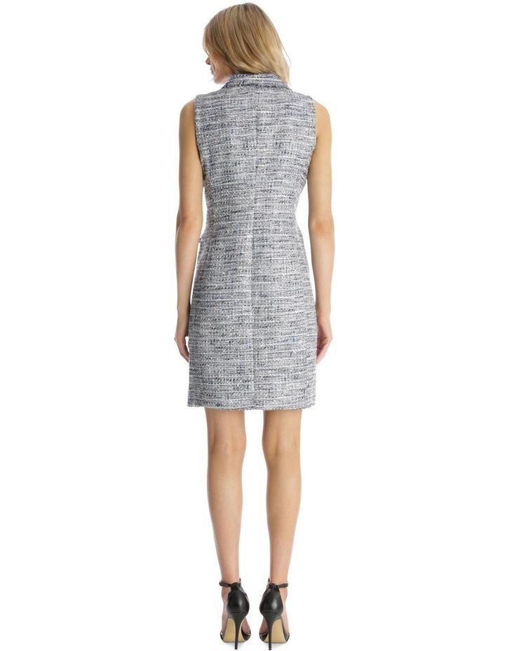 Sleeveless Tweed Blazer Dress with Front Pocket image 3