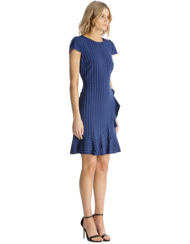 Pinstripe Fit and Flare with Flounce Hem image 2