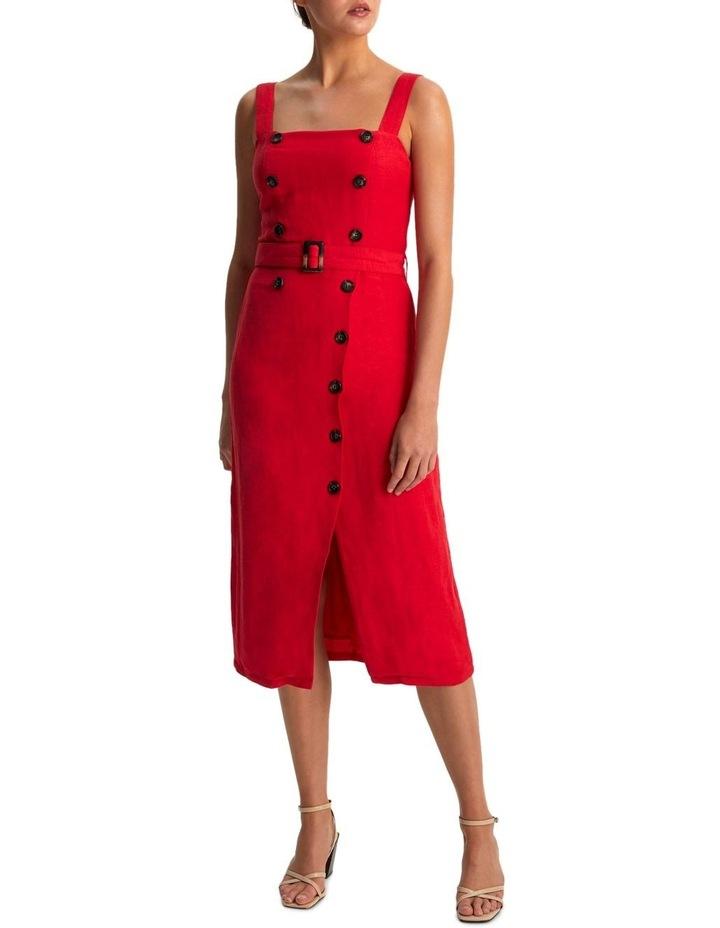 Carmen Belted Midi Dress image 1