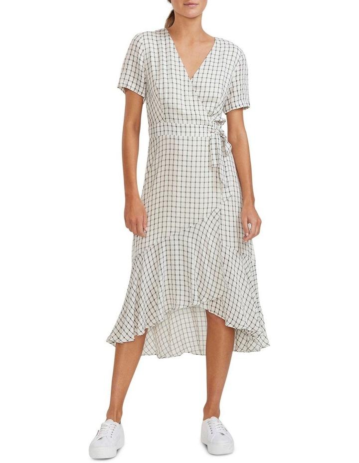 Checkmate Wrap Midi Dress image 1