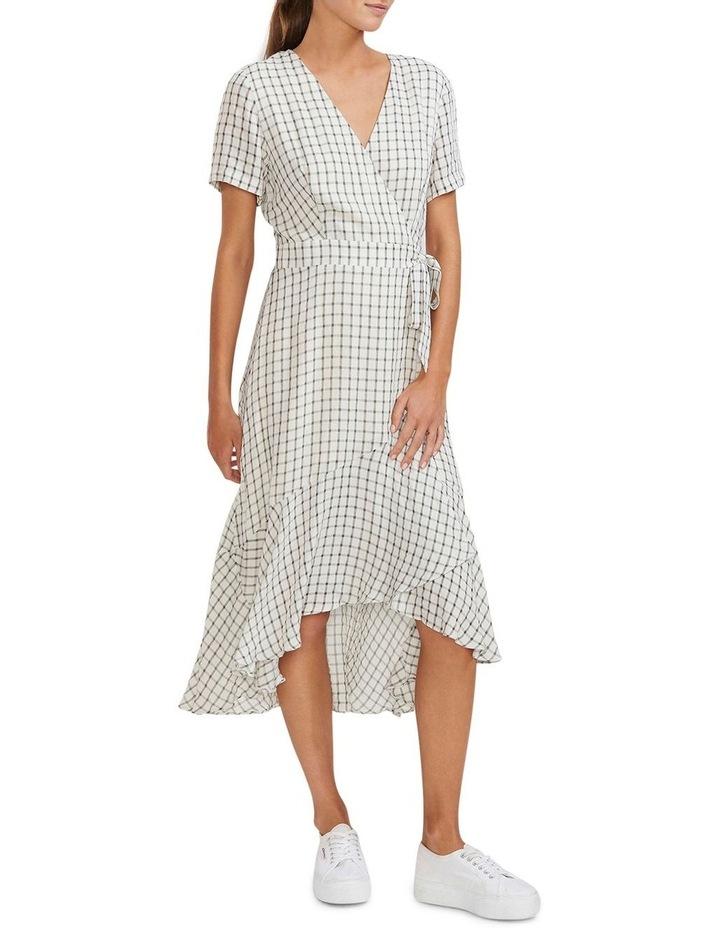 Checkmate Wrap Midi Dress image 2
