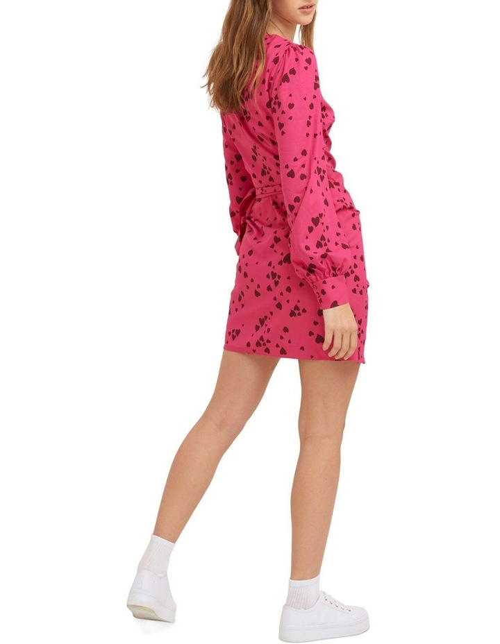 Never Been Kissed Wrap Mini Dress image 3