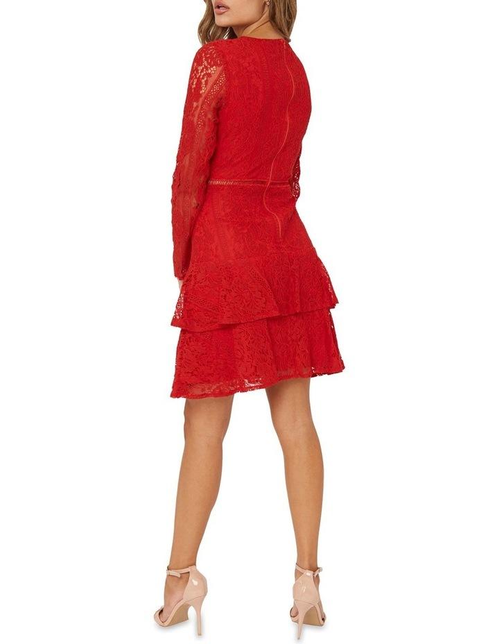 Long Sleeve Ruffled Lace Dress image 2