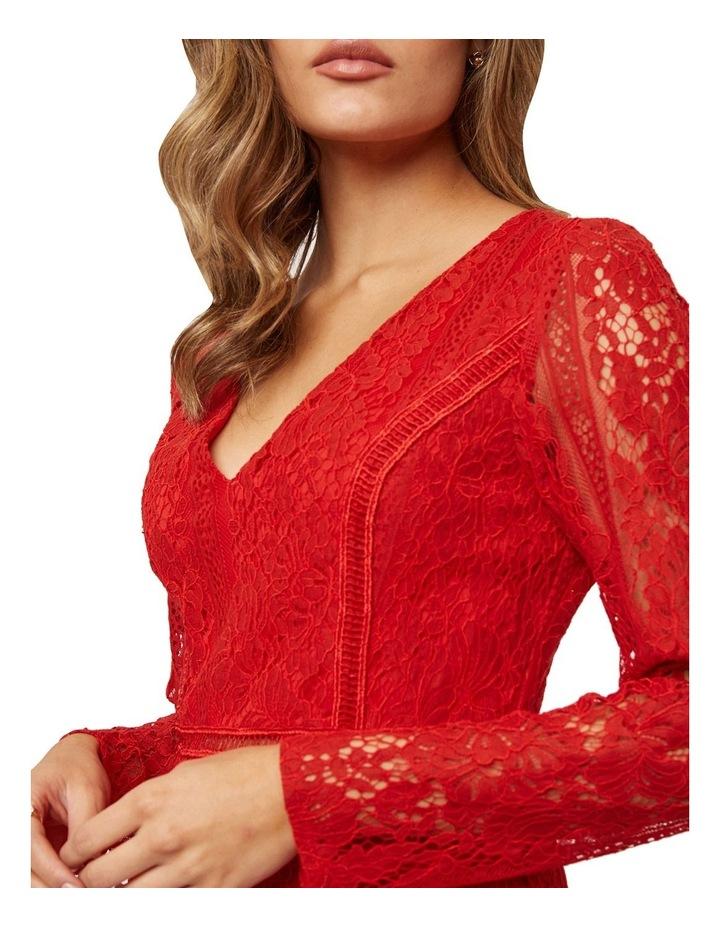 Long Sleeve Ruffled Lace Dress image 4
