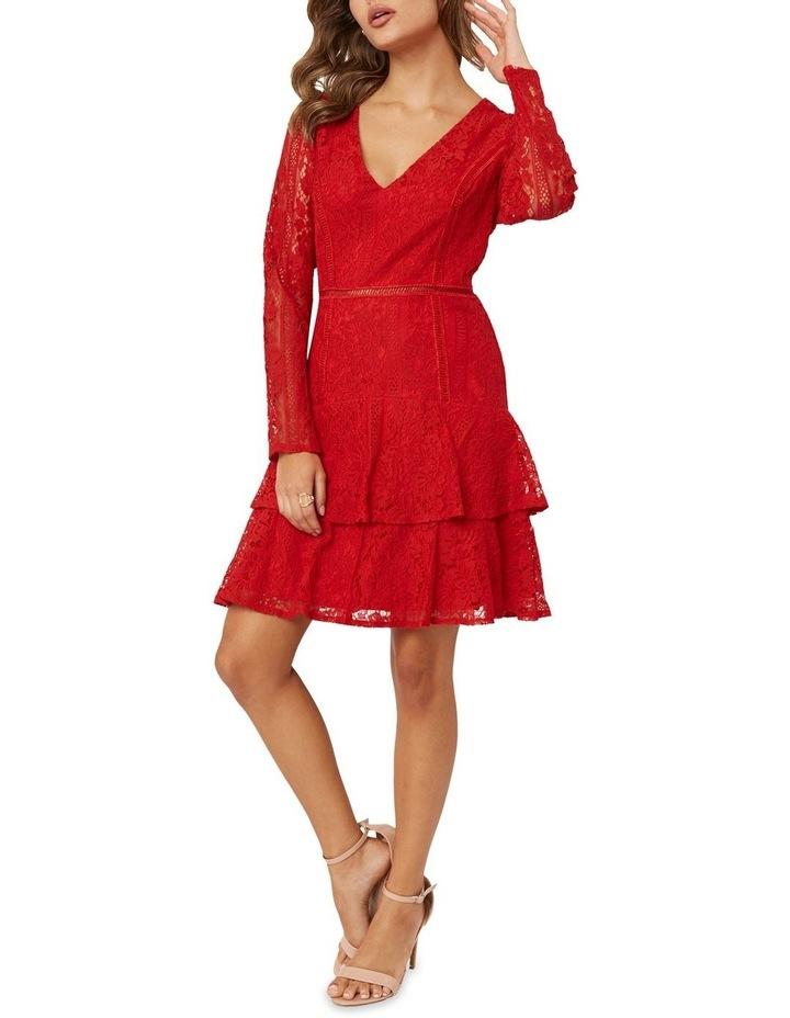 Long Sleeve Ruffled Lace Dress image 5