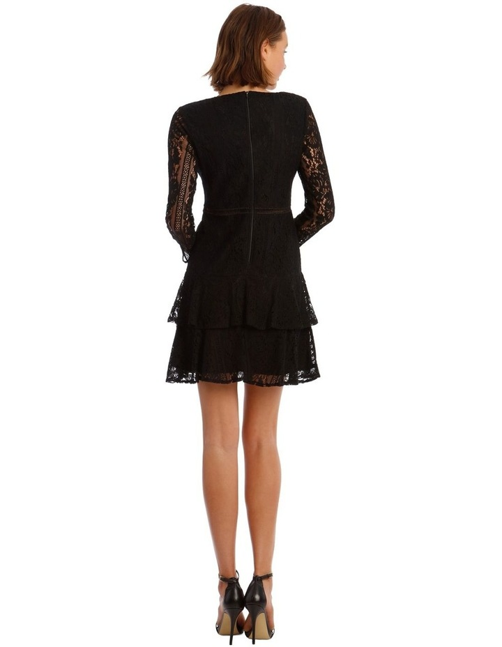 Long Sleeve Ruffled Lace Dress image 3