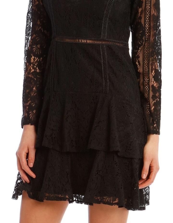 Long Sleeve Ruffled Lace Dress image 4