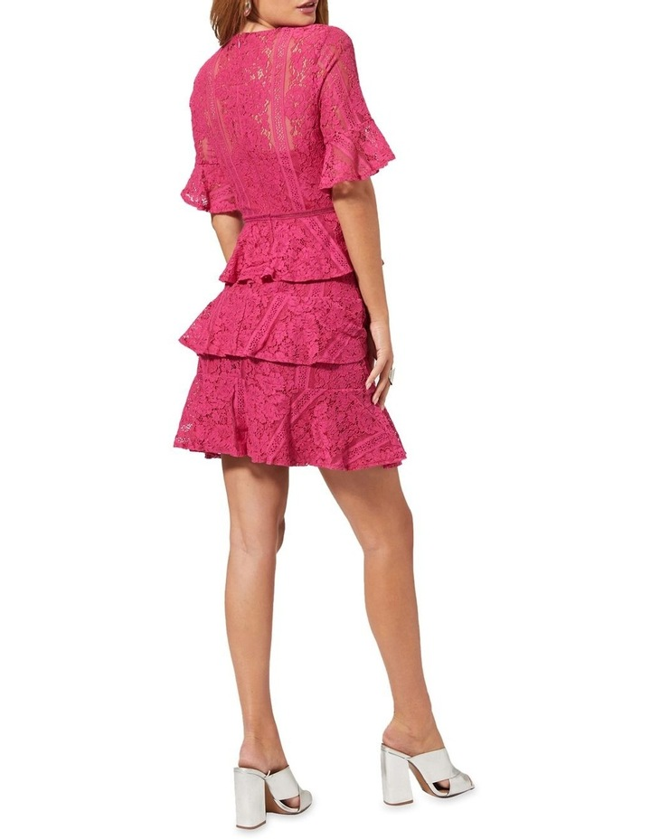 Lace Tiered Short Sleeve Dress image 2