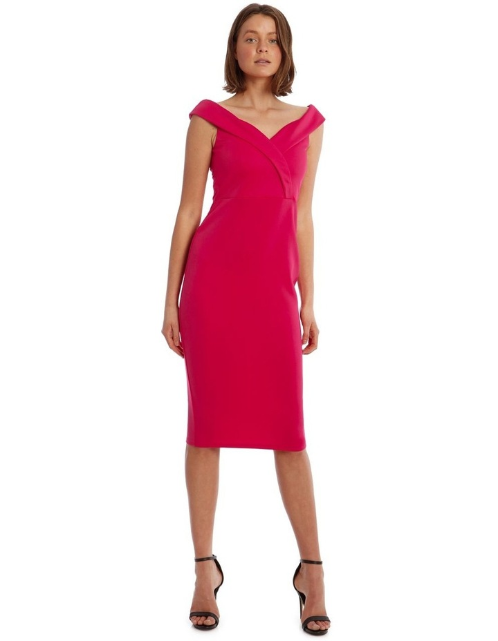 Off shoulder  Fitted Midi image 1