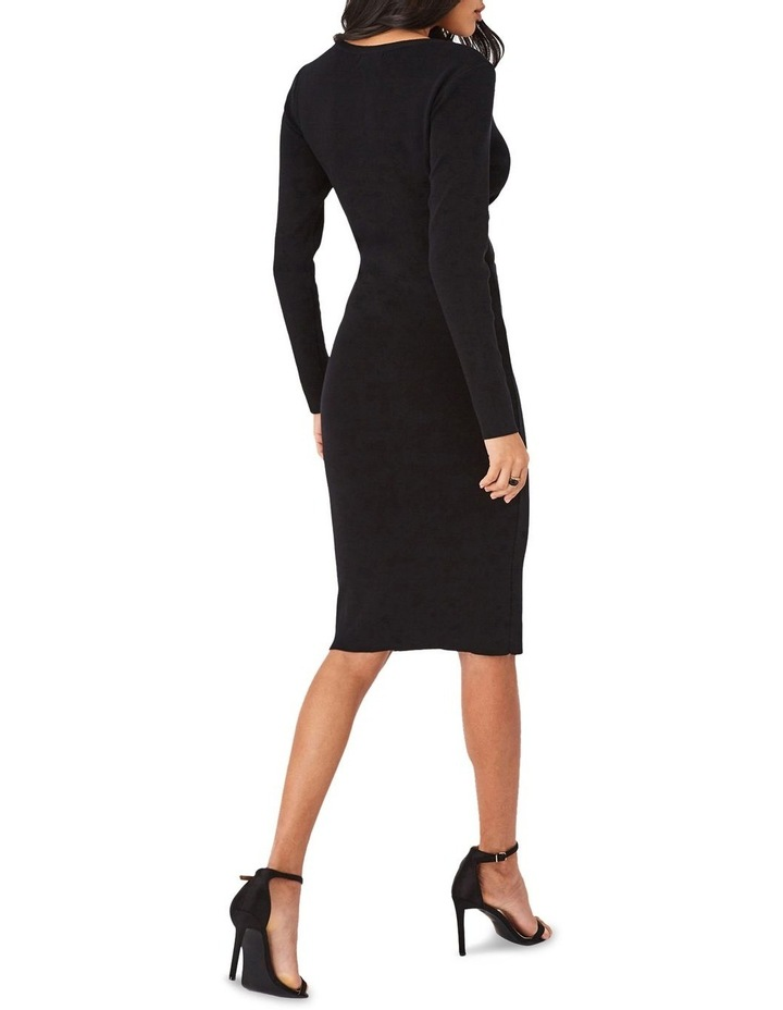 Ribbed Cross-Front Bodycon Dress image 2