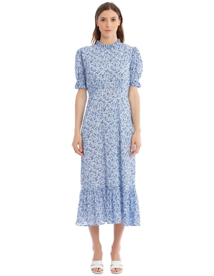 Solene Dress In Blue image 1
