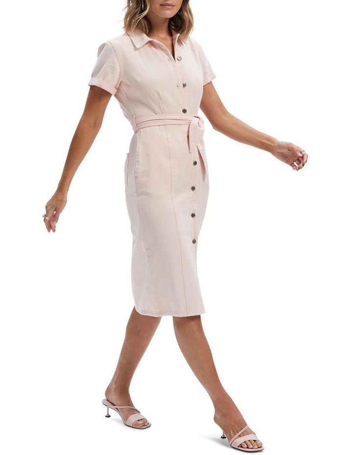 Adeline Denim Midi Dress image 2