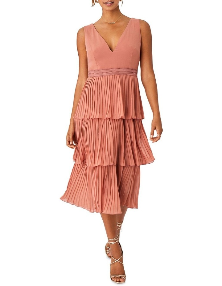 Rose Gold Pleated Tier Dress image 1