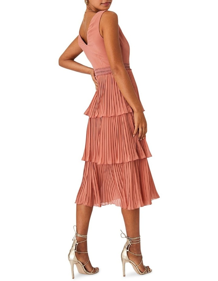 Rose Gold Pleated Tier Dress image 2