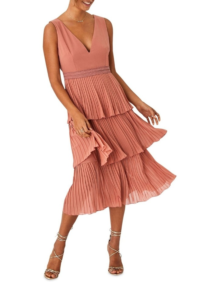 Rose Gold Pleated Tier Dress image 3