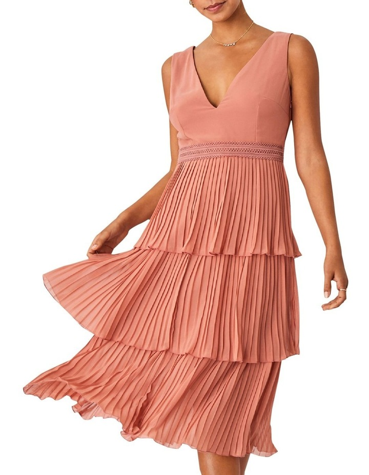 Rose Gold Pleated Tier Dress image 4
