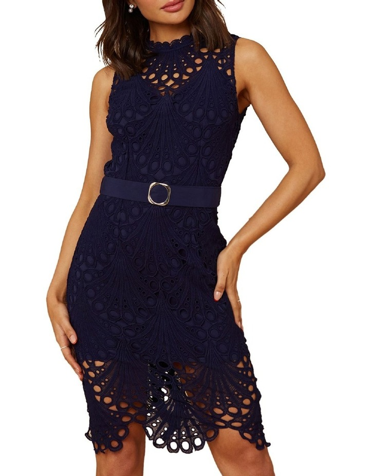 Belted Lace Dress image 1