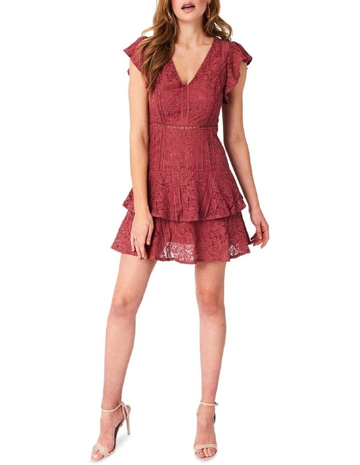 Short Sleeve Lace Tiered Dress image 1