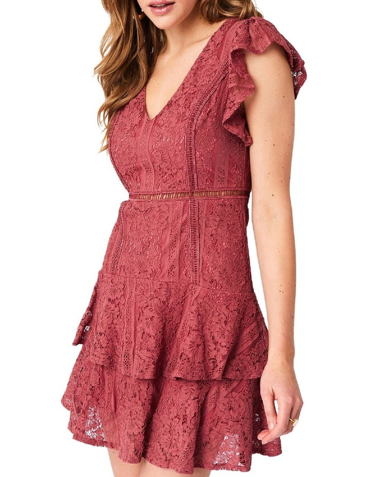 Short Sleeve Lace Tiered Dress image 3