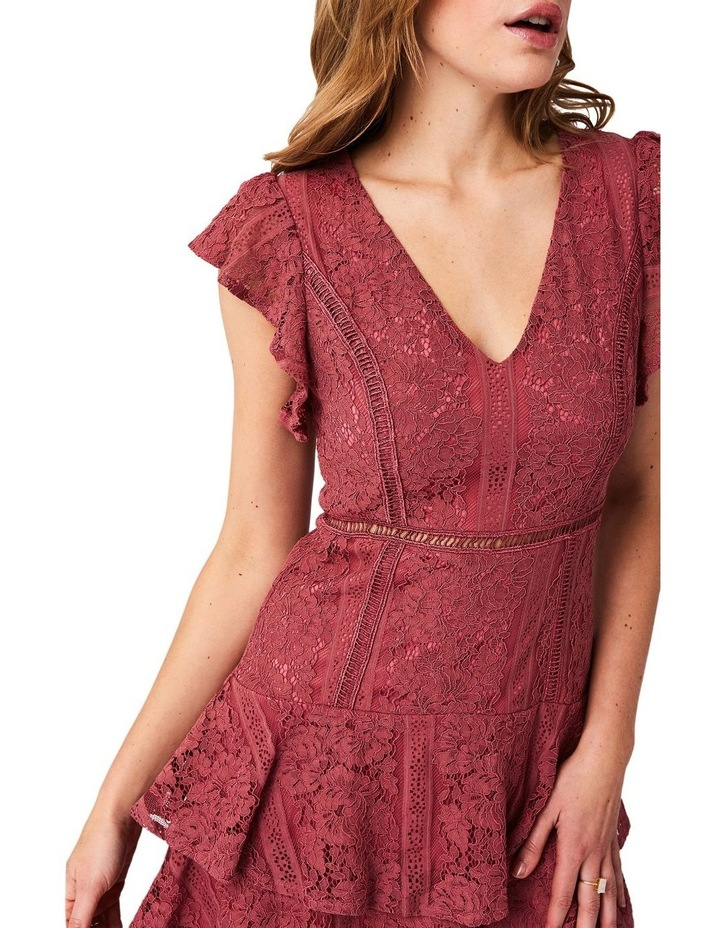 Short Sleeve Lace Tiered Dress image 4