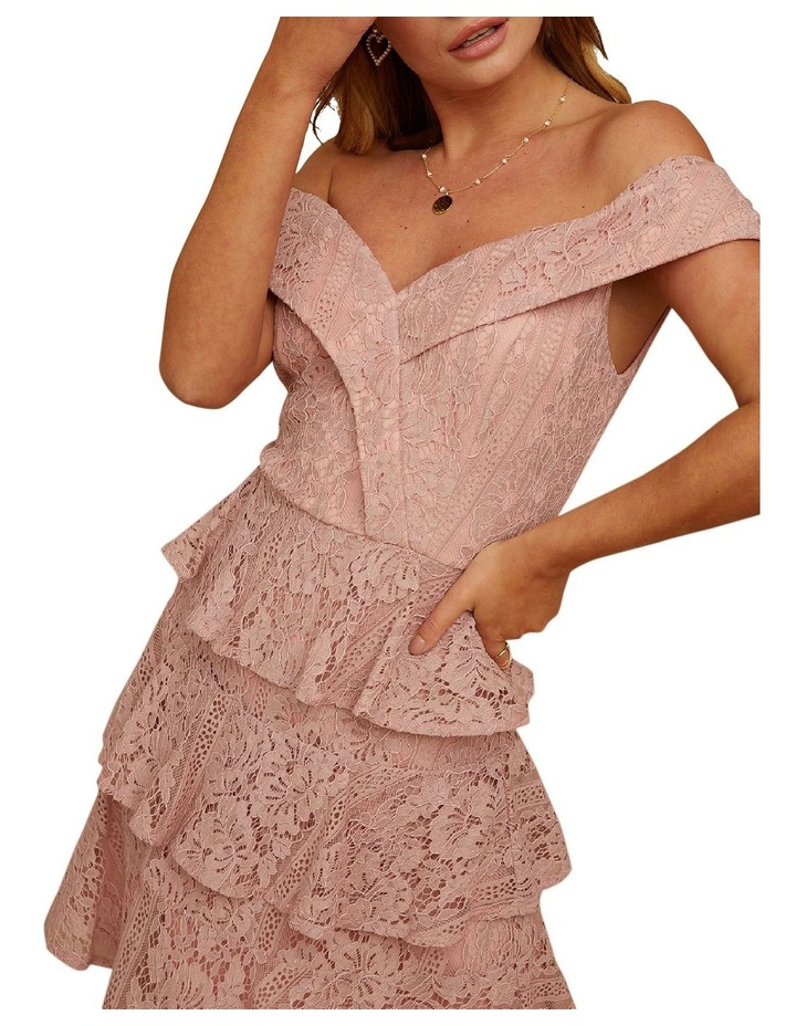 Sweetheart Lace Tiered Dress image 4