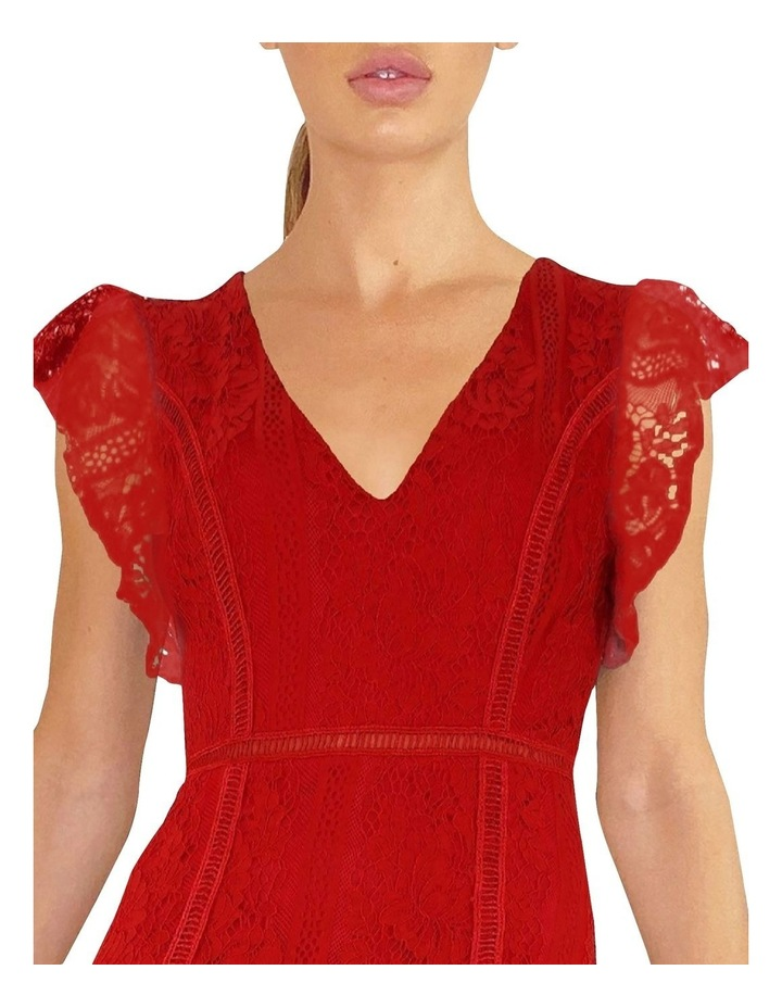 Short Sleeve Lace Tiered Dress image 2