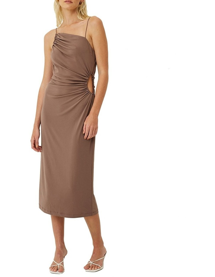 Taylor Ruched Cut Out Midi Dress image 1