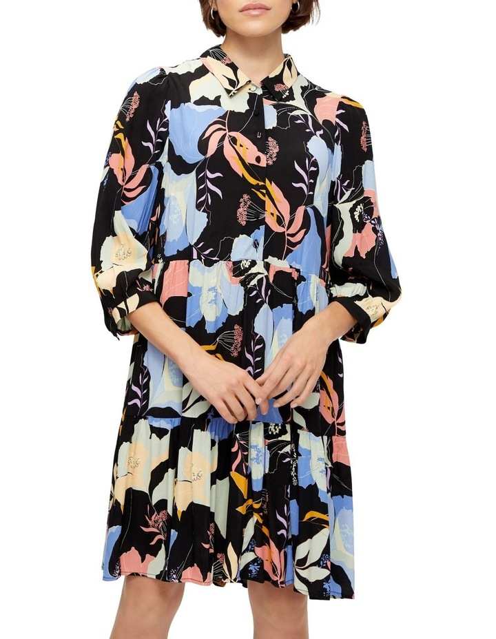 Erika Long-Sleeve Shirt Dress image 1