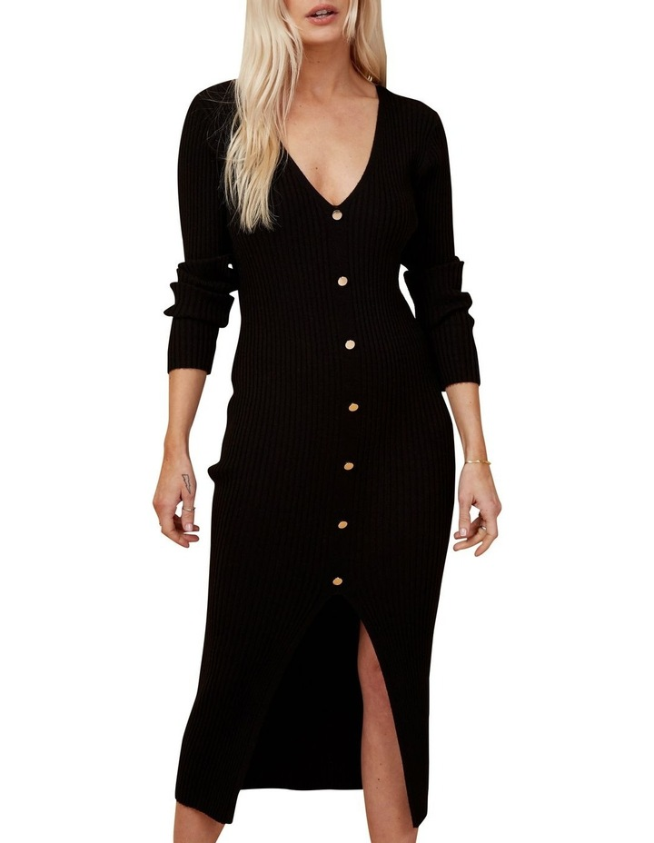 Button Down Ribbed Knit Dress image 1