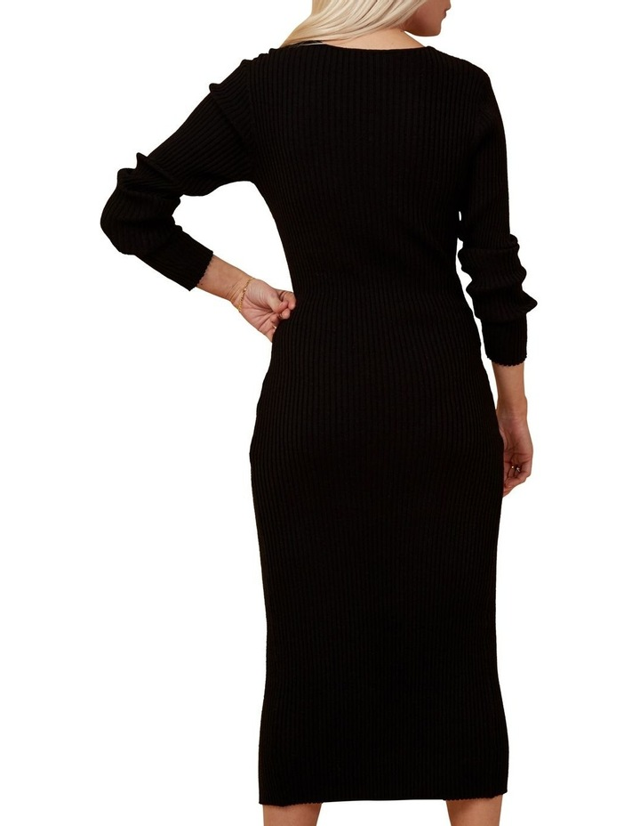 Button Down Ribbed Knit Dress image 4