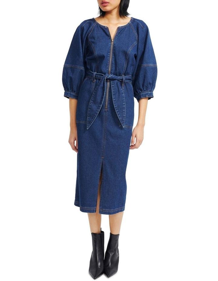 Carmel Denim Midi Dress image 1