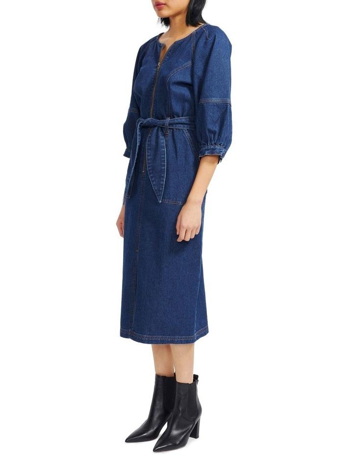 Carmel Denim Midi Dress image 2