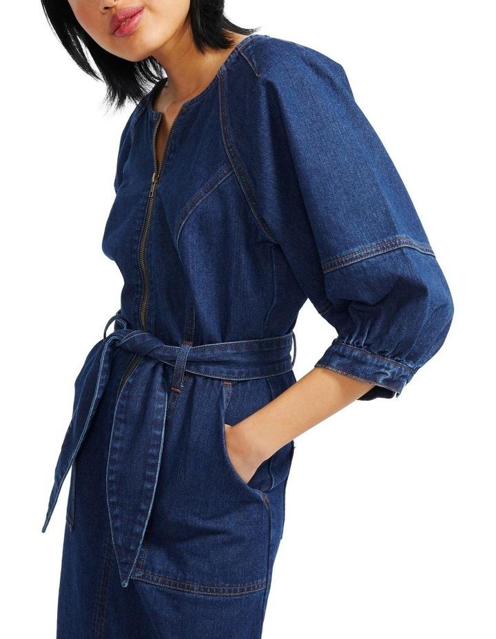 Carmel Denim Midi Dress image 4